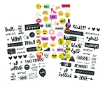 Emoji Love Clear Stickers