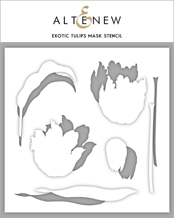 Exotic Tulips Mask Stencil