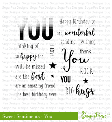 Sweet Sentiments - You Stamp Set