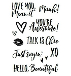 Talk is Chic Stamp Set