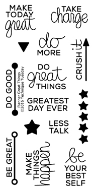 Planner Great Things Stamp Set