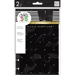 Create 365 Planner Mini Snap-In Hard Cover Black w/ Gold Dot