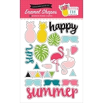 Summer Fun Enamel Shapes