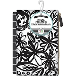 Create 365 Planner Pouch Bold Black w/Flowers
