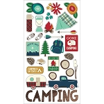 Cabin Fever Chipboard Stickers