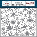 Perfect Winter Sweet Snowflakes Stencil