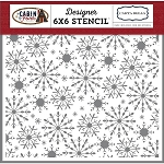 Cabin Fever Frosted Snowflakes Stencil