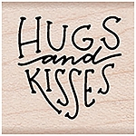 Hugs & Kisses Wood Stamp