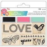 Sunshine & Good Times Wood Stamp Set