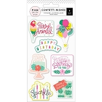 Confetti Wishes Embossed Stickers
