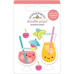 Sweet Summer Fruit Punch Doodle Pops