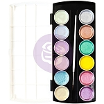 Pastels Metallic Accents Semi-Watercolor Paint Set
