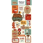 Celebrate Autumn Phrases Chipboard Stickers