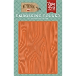 Celebrate Autumn Wood Grain Embossing Folder
