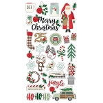 Merry & Bright Chipboard Stickers