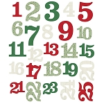 Merry & Bright Numbers Die Cuts