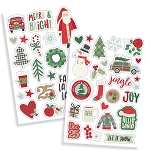 Merry & Bright Puffy Stickers