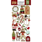 Celebrate Christmas Accents Chipboard Stickers