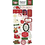 Merry and Bright Phrases Chipboard Stickers