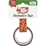Merry and Bright Gold Flourish Washi Tape