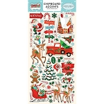 Santa's Workshop Accents Chipboard Stickers
