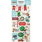 Santa's Workshop Phrases Chipboard Stickers