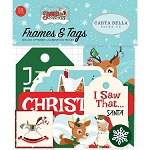 Santa's Workshop Frames & Tags Ephemera
