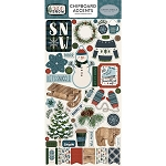 Let It Snow Accents Chipboard Stickers
