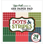 Christmas Gingham 6x6 Paper Pad