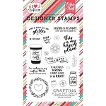 I Heart Crafting Just Add Glitter Stamp Set