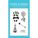Mini Panda Teepee Stamp Set