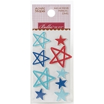 Fireworks & Freedom Patriotic Stars Acrylic Shapes