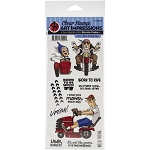 Work & Play Born to Ride Stamp Set