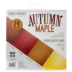 Pearl Cardstock 6x6 Autumn Maple