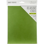 Weave Textured Classic Card 8.5 x 11 Grass Green