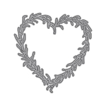 Garden Notes Heart Grapevine Wreath Die