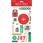 Holly Jolly Chipboard Stickers