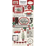 Christmas Market Phrases Chipboard