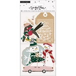 Snowflake Layered Tags