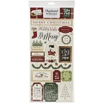 A Cozy Christmas Phrases Chipboard