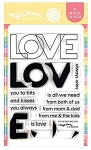 Outline Love Stamp Set