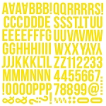 Color Vibe Foam Alpha Stickers Yellow