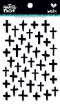 Crosses Puffy Stickers Black Eye Pea