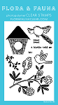 Woodgrain Bird Stamp Set