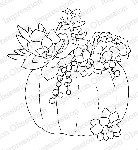 Succulent Pumpkin Rubber Stamp