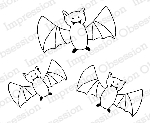 Batty Trio Rubber Stamp