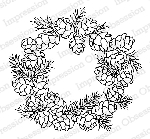 Pine Cone Wreath Stamp
