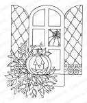 Halloween Window Stamp