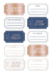 Lovely Day Ticket Tags