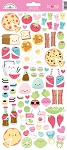 So Punny Food Icons Sticker